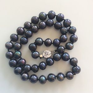 Jewelry - Freshwater blue purple baroque Pearl Necklace